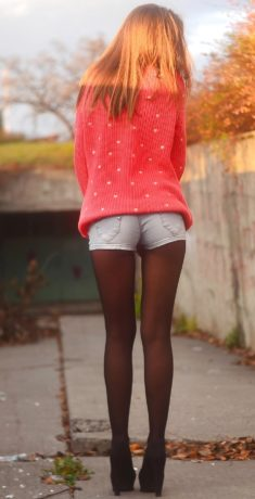 Young slim teen with beautiful sexy long legs