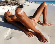 Katya Clover nude on the beach