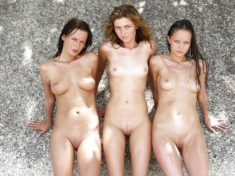 Group of young beauties nude