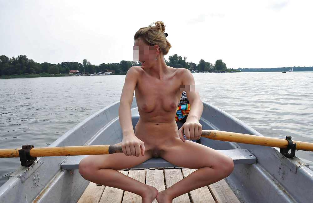 Nude on canoe