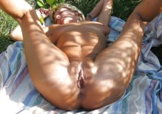 Old fat milf nudist whore spreads her legs and ass