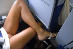 Bottomless in aeroplane