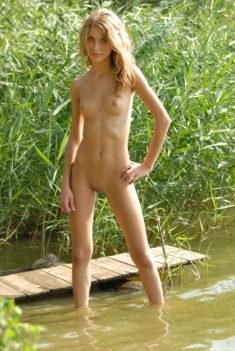 Young slim perfect blonde teen Anna C