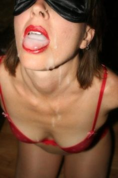 Young slut with a mouthful
