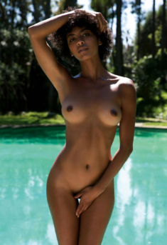 Black woman with a perfect body