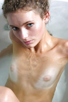 Titless young beauty