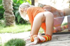Beautiful blonde teen with perfect tight ass