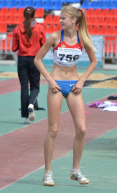 Young skinny athlete