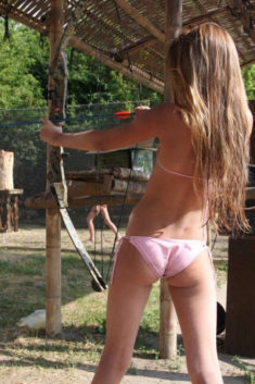 Young teen archery
