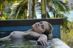 Beautiful Teresa Palmer with perky tits by the pool