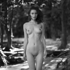Perfect young babe outdoors