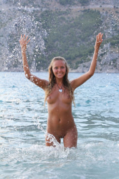 Perfect Katya Clover nude on the beach