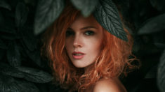 Young redhead beauty in nature, by Georgiy Chernyadiev