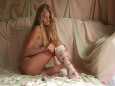 Perfect blonde teen Andrea C