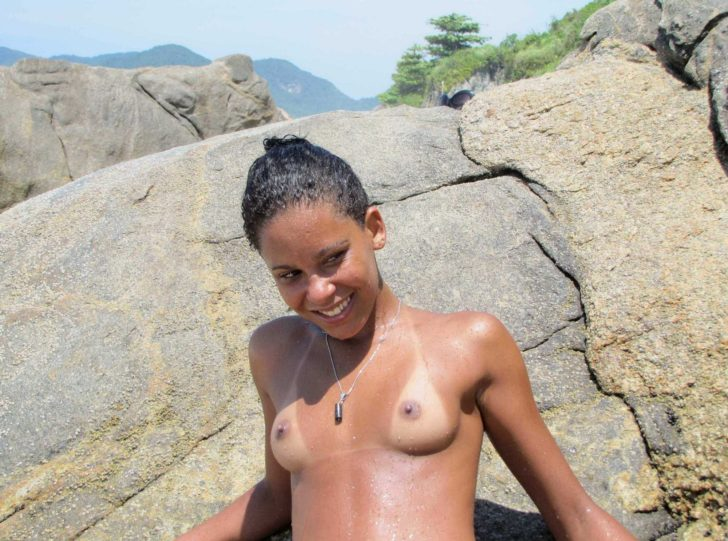 Young Brazilian nudist beauty