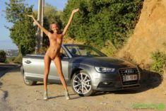Beautiful model Katya Clover and a convertible Audi | Most Beautiful Sports Cars