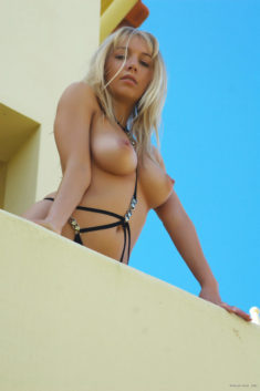 Beautiful blonde babe Hayley in Algarve