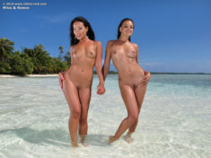Miko and Renee at the beach