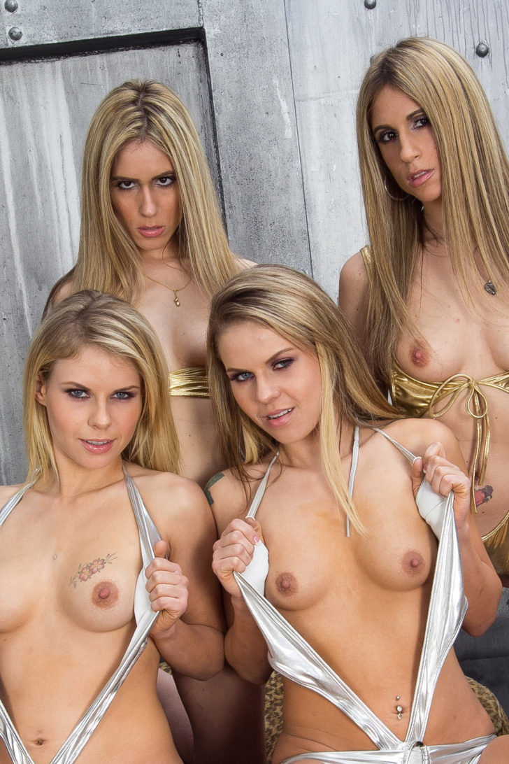 Four twins Lacey Love, Lindsey Love, Tatti Russo, Taylor Russo