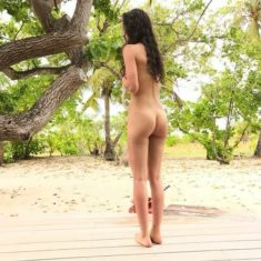 Young brunette nudist