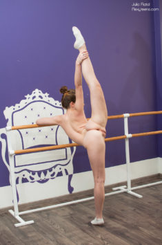 Young flexible teen Julia Fiatal