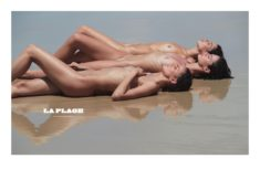 Barbara Fialho, Barbara Cavazotti and Flavia Lucini naked on the beach, by David Bellemere