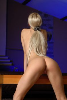 Perfect young blonde beauty Vika T
