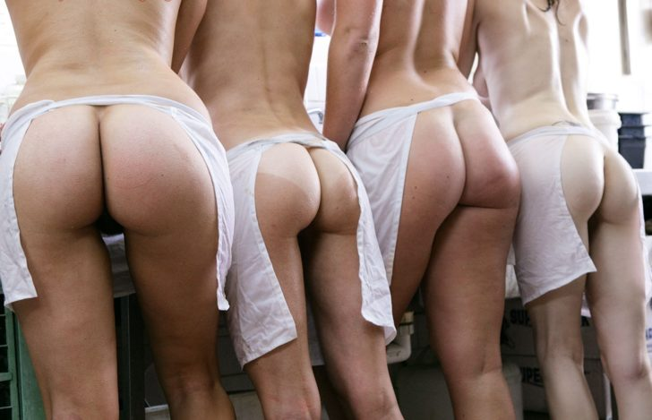 Group of asses ready to serve