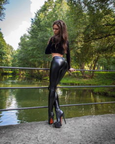 leather latex leggings tights