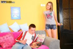Adrianne – caught her boyfriend jacking off