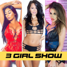 Join Charlie, Flick & Marni for a kinky 3 girl cam show on Babestation Cams!