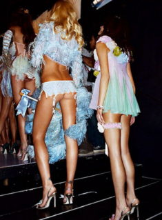 Backstage of Victoria's Secret Fashion Show 2011