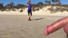 Privates in Public: Public Beach Nudity Tuesday – a very happy lady encounters cock….
