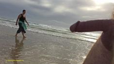 Privates in Public: Public beach nudity Tuesday – having a damn good long look as she pass ...