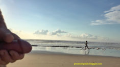 Privates in Public: Tuesday beach public nudity – video of young lady runner waving at har ...