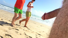 Privates in Public: Beach Tuesday – She makes sure she gets a good look!
