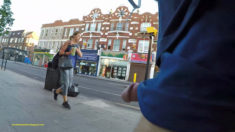 Privates in Public: Streetflash Wednesday – Public street pedestrian dickflash