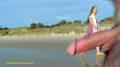 Privates in Public: Tuesday Public Beach Nudity – happy long haired lady enjoys looking at ...