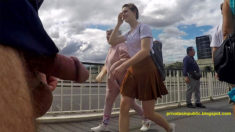 Privates in Public: Wednesday Public Flashing – Two young ladies see him exposed on the si ...