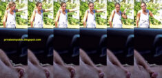 Public erection masturbation Carflash – She is very vigorously giving him directions as sh ...
