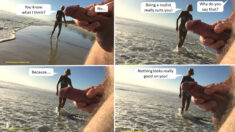 Friday Public Nudity Funny Comic – Public erection on the beach draws sly praise
