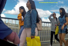 Public Flashing and Nudity – Public erection dickflash on the busy street for young ladies