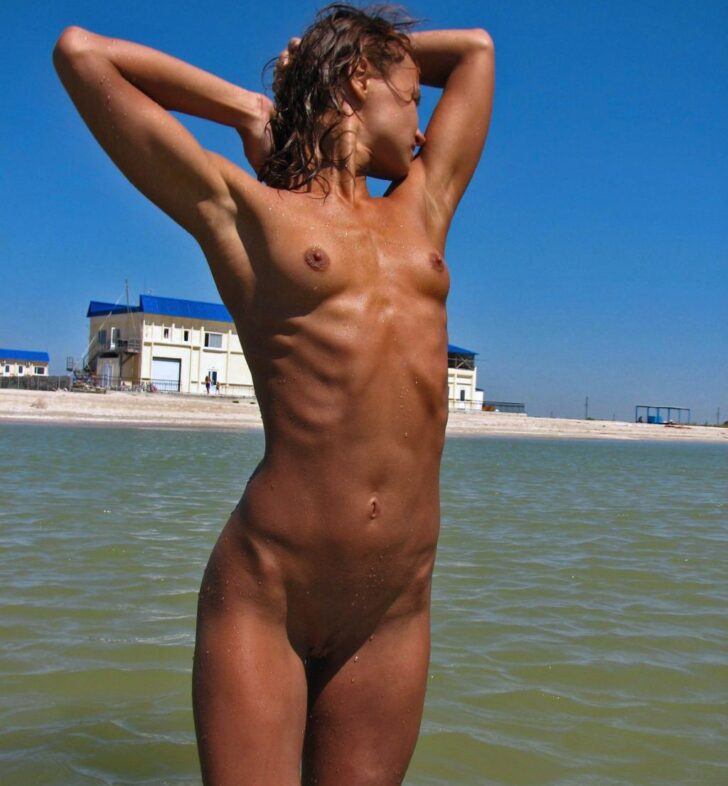 Perfect nudist babe
