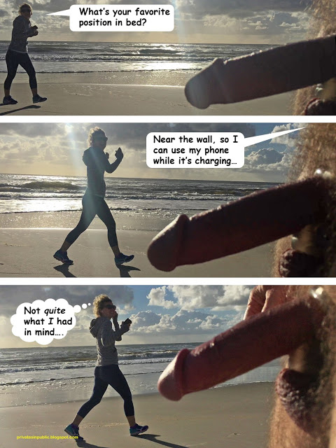 Public Erection Flasher Exhibitionist CFNM Beach Nudity Comic – Preferred positions in bed