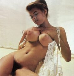 Vintage Penthouse girl with big tits