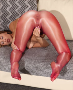 Tights masturbation
