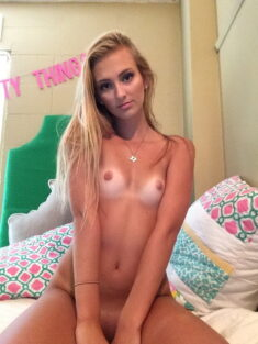 young blonde cutie teen selfie
