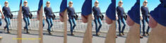 Public erection flasher exhibitionist dickflash – A mature lady looks directly at his cock ...