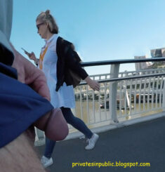 Public erection flasher exhibitionist dickflash  – out in public on the boardwalk
