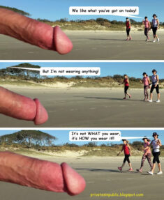 Public Erection Flasher Exhibitionist Beach CFNM Funny Comic – Beachwear!